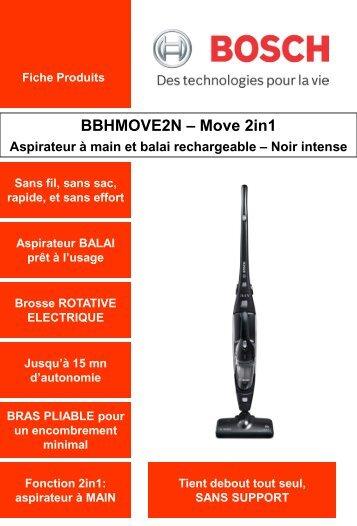 Bosch Aspirateur balai Bosch BBHMOVE2N - fiche produit