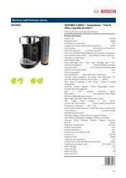 Bosch Tassimo Bosch TAS7002 Caddy Noir - fiche produit
