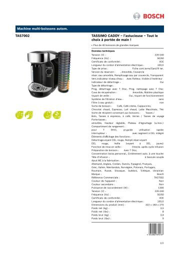 Tassimo Professional T65 T300 Brewer Owners