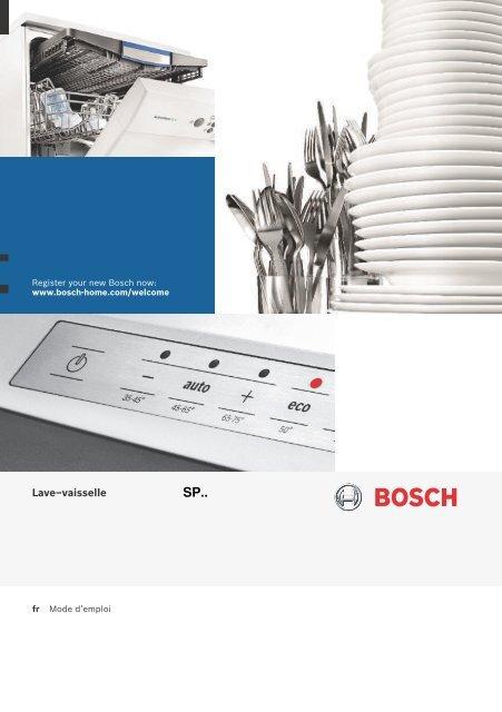 Bosch Lave Vaisselle Encastrable 45 Cm Bosch Spi50e95eu Mode D