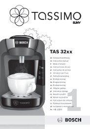 Bosch Tassimo Bosch TAS3204 Suny Blanche - notice