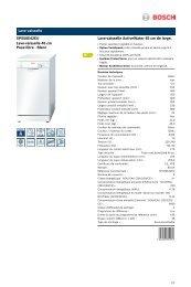 Bosch Lave vaisselle 45cm Bosch SPS50E42EU - fiche produit