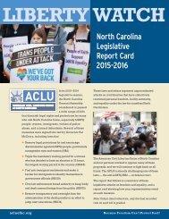 ACLU 2016 Legislative Report Card web