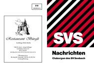 SVS Nachrichten 162, Juli 2011 - Sportverein Seebach