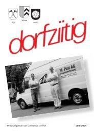 dorfziitig Juni 2004 - im Winkler (W)Internet-Portal!