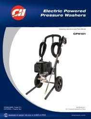 Electric Powered Pressure Washers - Campbell Hausfeld