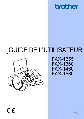 Brother FAX-1355 - Guide utilisateur