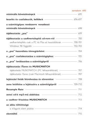 Philips Sport audio player - User manual - HUN