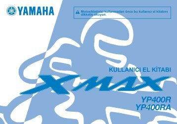 Yamaha XMAX400 - 2015 - Manuale d'Istruzioni Türkçe