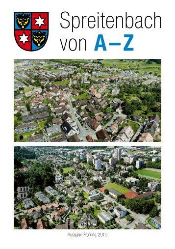 Spreitenbach von A - Z (3,7 MB) - Gemeinde Spreitenbach