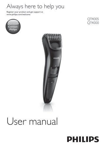 Philips Norelco Beardtrimmer 3100 Beard trimmer, Series 3000 - User manual - POR
