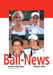 Ball News Herbst 2011 - Tennis Club Chur