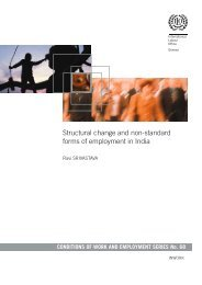 Structural change and non-standard forms of employment in India