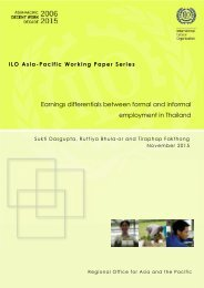 Earnings differentials between formal and informal employment in Thailand