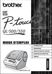 Brother QL-550 - Guide de l'utilisateur pour QL-550