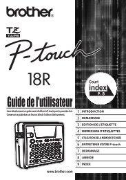 Brother PT-18R - Guide utilisateur