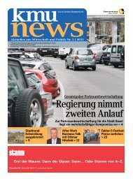 Aktuelles aus Wirtschaft und Politik Nr. 5 - KMU-Channel ...
