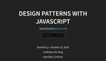 DESIGN PATTERNS WITH JAVASCRIPT