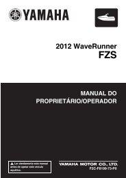 Yamaha FZS SVHO - 2012 - Manuale d'Istruzioni Português