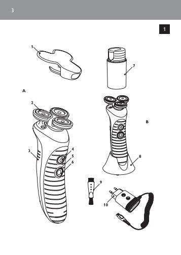 Philips NIVEA FOR MEN shaver - User manual - SLK
