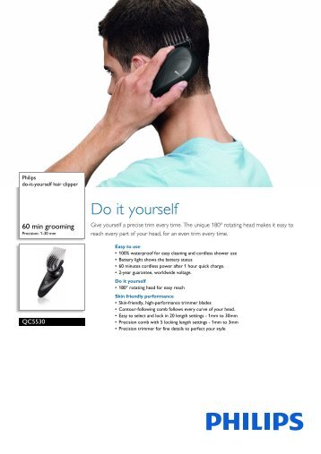 Philips do-it-yourself hair clipper - Leaflet - AEN