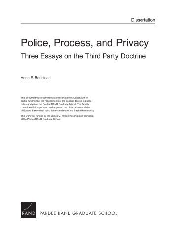 Police Process and Privacy