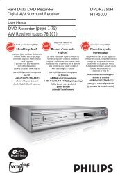 dvd recorder owner's manual model: dr787t - Home Technology