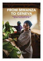 FROM MWANZA TO GENEVA