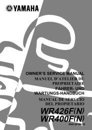 Yamaha WR426F - 2001 - Manuale d'Istruzioni Deutsch