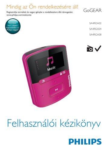 Philips GoGEAR MP3 player - User manual - HUN