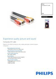 Philips Composite A/V cable - Leaflet - AEN
