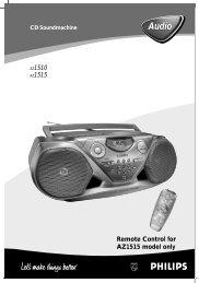 Philips CD Soundmachine - User manual - NOR