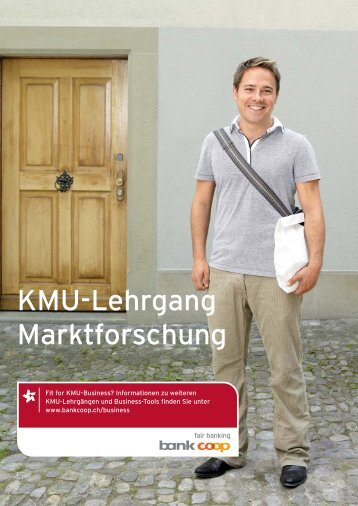 KMU-Lehrgang Marktforschung.indd - Bank Coop