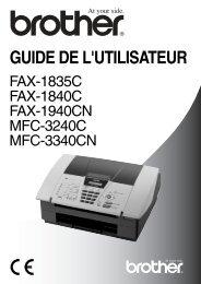 Brother FAX-1835C - Guide utilisateur