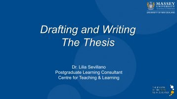 Drafting and Writing The Thesis