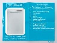 Candy Lave vaisselle Candy CDP 2D35W-47 - fiche produit