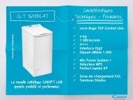 Candy Lave linge top Candy CLT 363DM - fiche produit