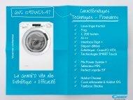 Candy Lave linge hublot Candy GVS 129 DWC3 - fiche produit