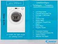 Candy Lave linge hublot Candy GSV 139D3/1-S - fiche produit