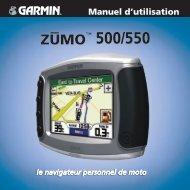 Garmin zumo 500 - Manuel d'utilisation