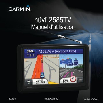 Garmin nüvi 2585TV, Russia - Manuel d'utilisation