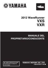 Yamaha VXS - 2012 - Manuale d'Istruzioni Italiano