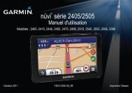 Garmin nüvi® 2445LMT, Germany - Manuel d'utilisation