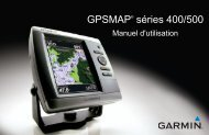Garmin GPSMAP® 527xs - Manuel d'utilisation