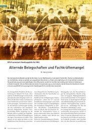 Alternde Belegschaften und Fachkräftemangel - Deutsche ...