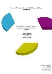 Document de Recherche du Laboratoire d'Économie d'Orléans