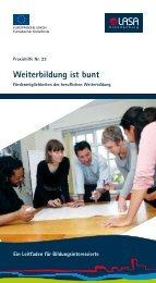 Weiterbildung ist bunt - LASA Brandenburg GmbH