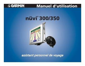 Garmin nuvi 300 - Manuel d'utilisation
