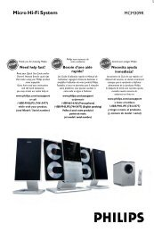 Philips Micro Hi-Fi System - User manual - ENG