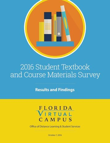2016 Student Textbook and Course Materials Survey